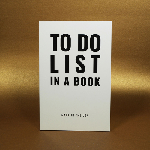 TO DO LIST IN A BOOK